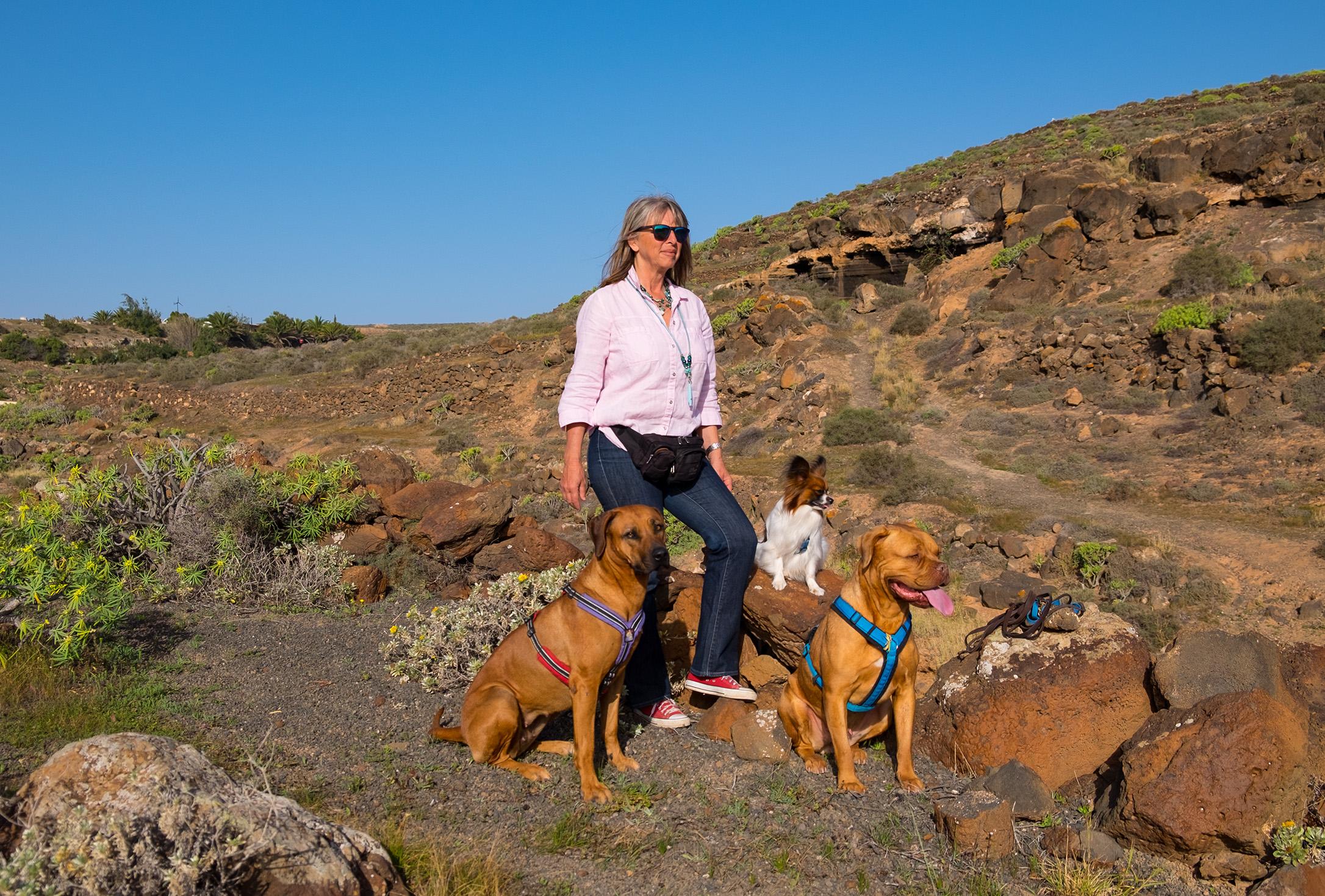 Hundetrainerin Liz auf Lanzarote